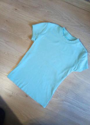 Распродажа! футболка хлопковая мятный цвет тиффани бирюзовый