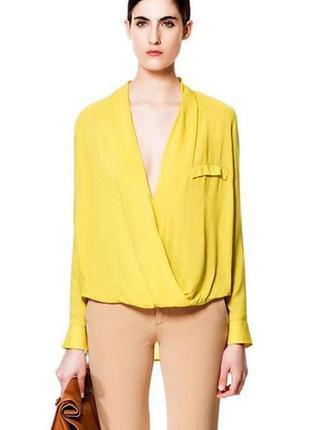 Вискозная блуза zara p-s