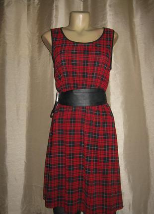 Легкое платье в клетку s.oliver, оригинал.