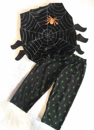 Костюм паучка паука на хэллоуин 1-2 года отличное качество и состояние