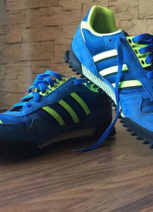 Adidas супер крутые синие мужские кроссовки