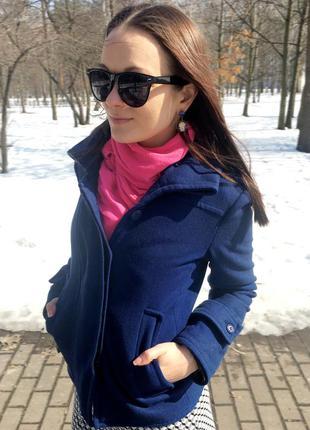 Шерстяное пальто stradivarius