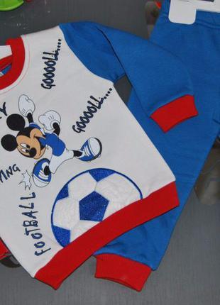 Теплый спортивный костюм микки маус футбол мяч 1 год турция