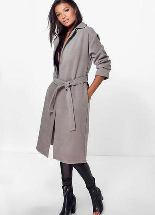 Пальто-халат с поясом, на запах oversize