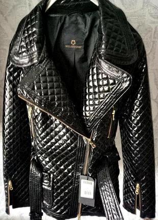 Куртка лакированная женская  milestonе