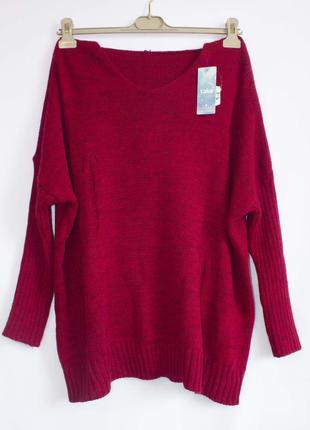 Удлиненный свитер с капюшоном, италия, uni