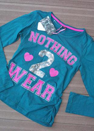 Нарядная футболка с длинным рукавом,реглан new york