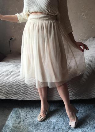 Фатиновая юбка нежного цвета