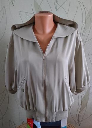 Стильная курточка, олимпийка, кофточка на молнии с укороченым рукавом