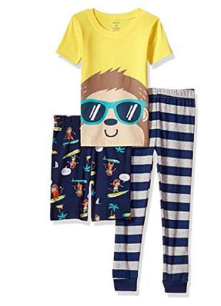 Пижама для мальчика на 8 лет сarters (сет 3в1)