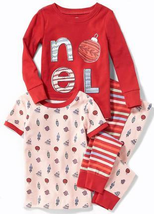 Пижама для девочки на 3, 4 и 5 лет олд неви old navy (сет из 2х пижам)