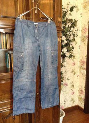 Брюки (тонкий джинс) карго