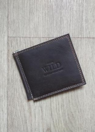 aad446ab12b7 Кошелек с зажимом для денег брендовый. натуральная кожа буйвола ...