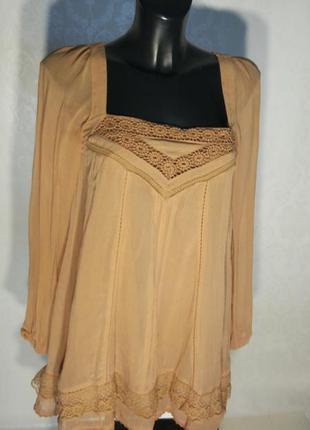 Классное мини платье 👗 цвет мокка 100% вискоза,  подкладка 100% коттон