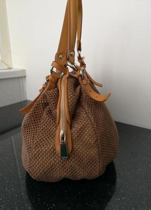 Сумка итальянского бренда tosca  blu  , handbag - brown
