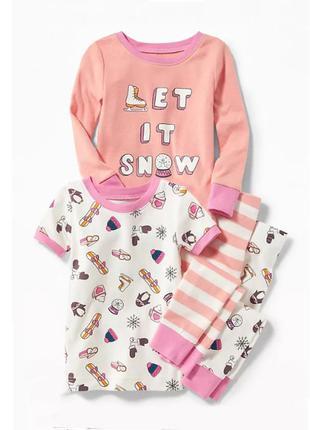 Пижама для девочки на 4 и 5 лет олд неви old navy (сет из 2х пижам)