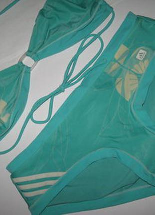 Adidas модный купальник бандо, на чашку а-в, любой обьем