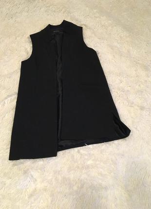 Zara шикарный удлинённый жилет