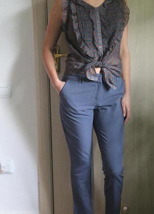 Укороченные классические брюки штаны с карманами