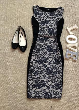 Красивое платье-миди в принт