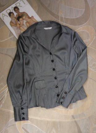 Атласная блуза-пиджачек