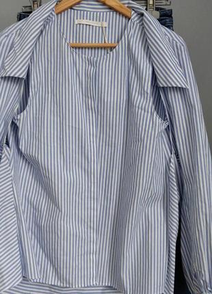 Рубашка-трансформер в полоску от zara