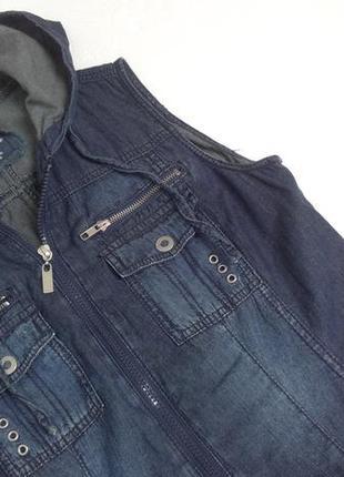 Street one. крутое джинсовое платье с капюшоном. 44-46 размер.