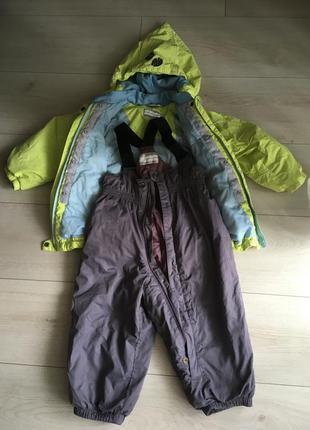 Фирменный демисезонный костюм куртка с полукомбинезоном reima 1-2 года (86)