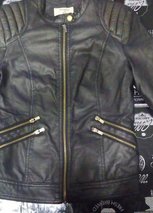 Куртка весна осень из кожзама в идеальном состоянии