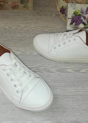 Белые кожаные кеды шикарного качества 36-41 натуральная кожа, цена ... 8c9e640d0b1
