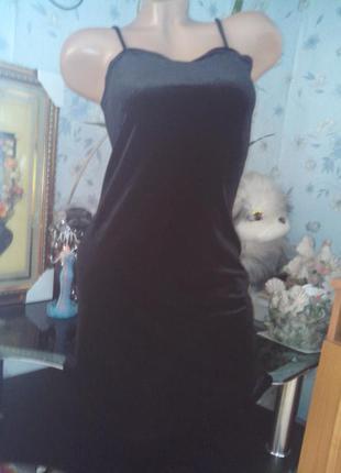 Маленькое чёрное велюровое платье от stella