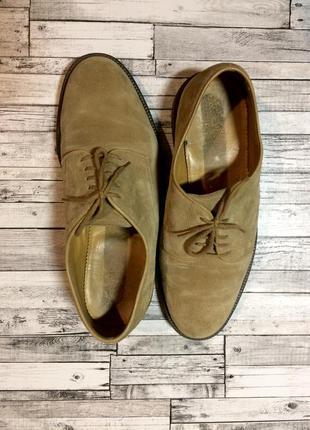 Замшевые туфли oxford