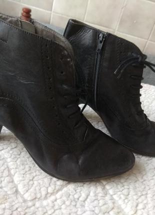 Кожаные ботинки 27см италия