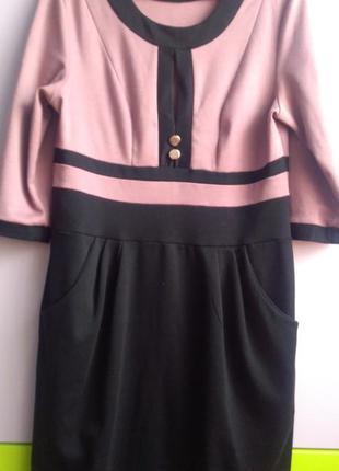 Платье с карманами, 52 р.