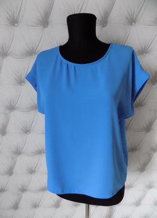 Волошкового цвета базовый топ, блуза