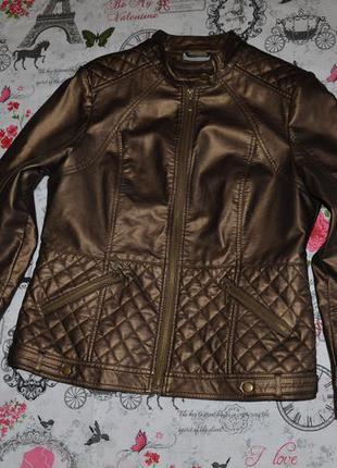 Модная кожаная куртка wallis 16 размер