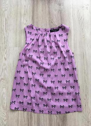 Легкая блуза с бантиками