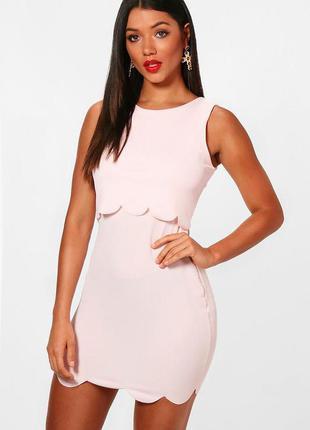 Нежное пудровое розовое платье