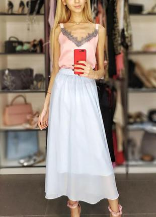 Базовый шелковый атласный топ майка бельевой стиль розовый с французским кружевом3 фото