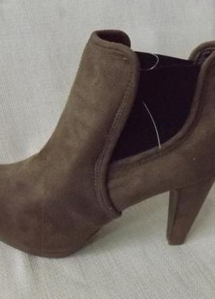 Ботильоны ботинки каблук esmara 36-37 размер
