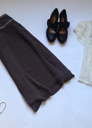Шелковая юбка миди marks&spencer