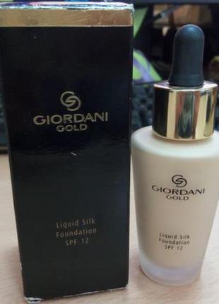Шелковая тональная основа-флюид giordani gold
