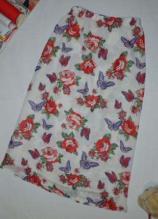 Длинная юбка в розах от next