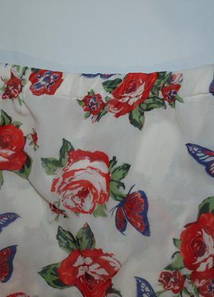Длинная юбка в розах от next2
