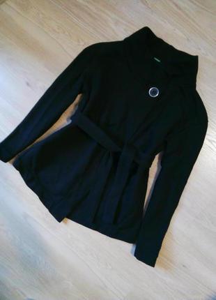 Жакет  кофта с поясом пиджак