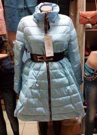 """Демисезонная удлиненная курточка """"куколка"""" размер с.м.л.хл"""