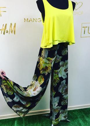 Роскошные шифоновые брюки-юбка #557