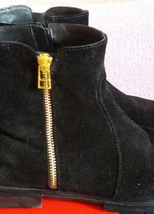 Замшевые ботинки на весну/осень , размер 40 (26)