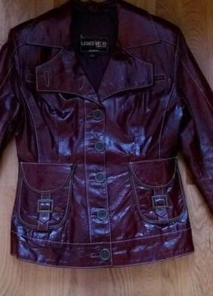 Кожаная куртка лакированная