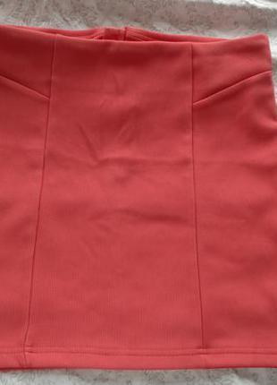 Яркая мини юбка-резинка